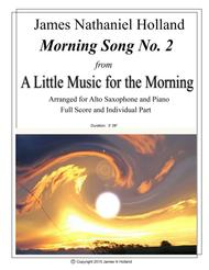 Morning Song No 2 from A Little Music for the Morning for Alto Saxophone and Piano