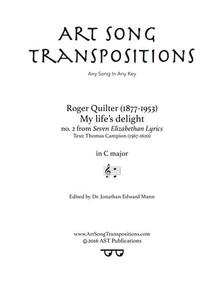 My life's delight, Op. 12 no. 2 (C major)