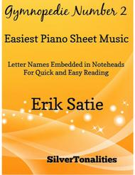 Gymnopedie Number 2 Easiest Piano Sheet Music