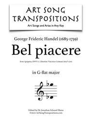 Bel piacere (G-flat major)