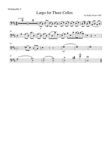 Largo for Three Cellos