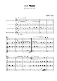 Giulio CACCINI - Ave Maria - for saxophone quartet