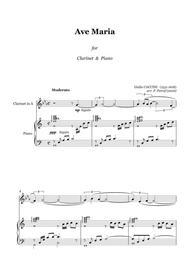 Giulio CACCINI - Ave Maria - for clarinet & piano