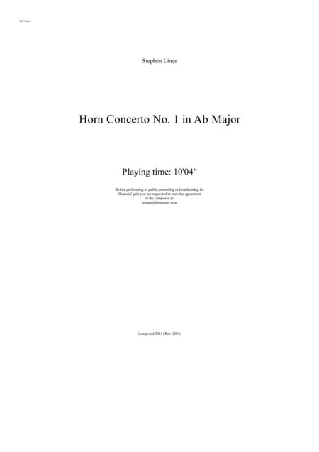 Horn Concerto No.1 in Ab Major