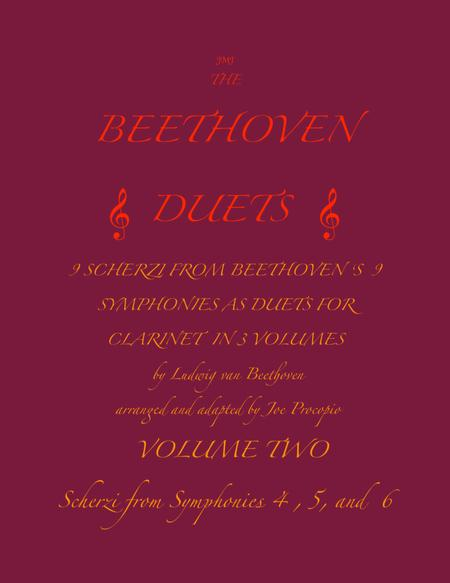 The Beethoven Duets For Clarinet Volume 2 Scherzi 4, 5 and 6