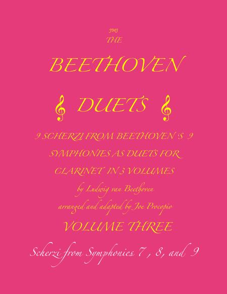 The Beethoven Duets For Clarinet Volume 3 Scherzi 7, 8 and 9
