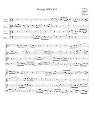 Prelude, BWV 943 (arrangement for 4 recorders)