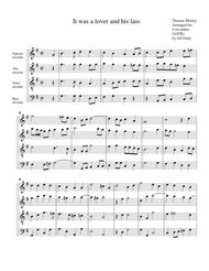 It was a lover and his lass (arrangement for 4 recorders)