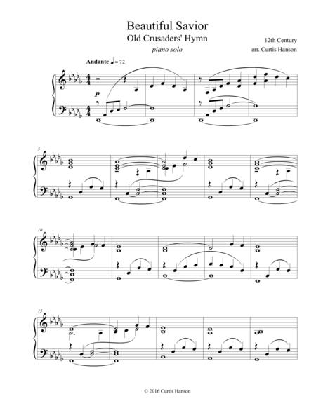 Download Beautiful Savior Piano Sheet Music By Traditional Sheet
