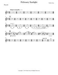 February Sunlight (Wind Orchestra Parts)