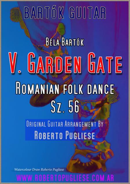 V. Román polka / Poarga Românească (Romanian Polka) for GUITAR - Garden gate. Béla Bartók.