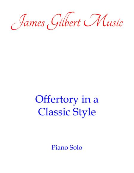 Offertory In A Classic Style