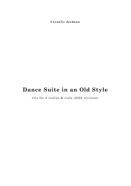 Dance Suite in an Old Style, for 2 violins & viola
