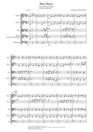 Blue Moon for String Quartet