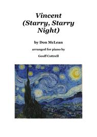 Vincent (Starry Starry Night) Piano Solo