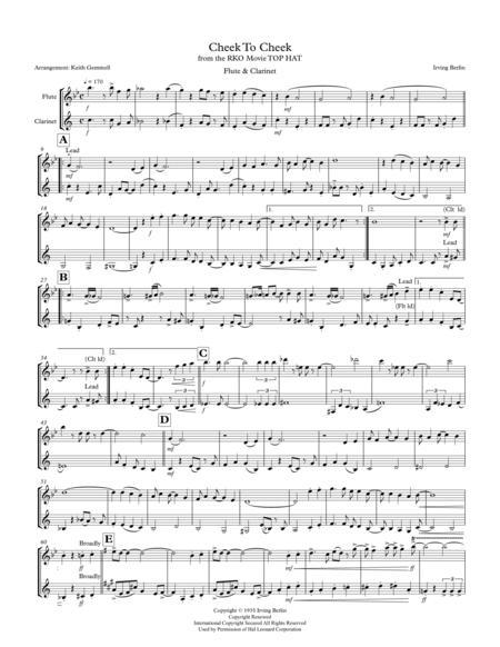Cheek To Cheek: Flute & Clarinet Duet (1930s style)