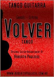 Volver - tango - (Carlos Gardel) - Guitar score.
