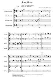 Blue Moon for Recorder Quartet