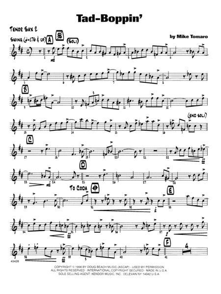 Tad-Boppin - 2nd Bb Tenor Saxophone