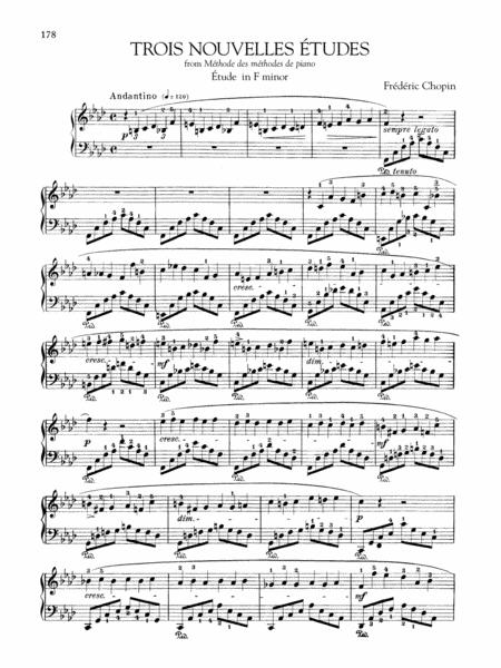 Etude in F minor, from Trois Nouvelles Etudes from Methode des methodes de piano