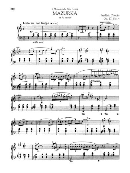 Mazurka in A minor, Op. 17, No. 4
