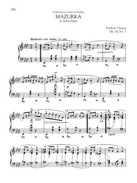 Mazurka in A-flat Major, Op. 24, No. 3