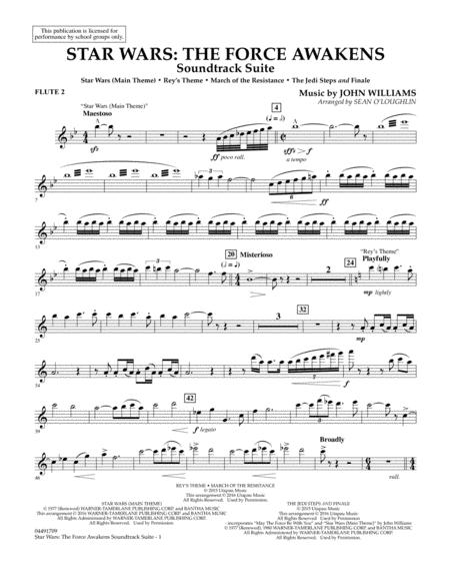 Star Wars: The Force Awakens Soundtrack Suite - Flute 2