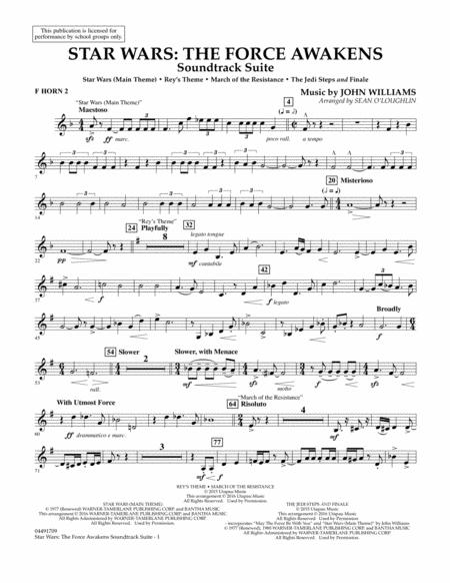 Star Wars: The Force Awakens Soundtrack Suite - F Horn 2