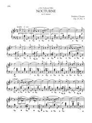 Nocturne in G minor, Op. 15, No. 3