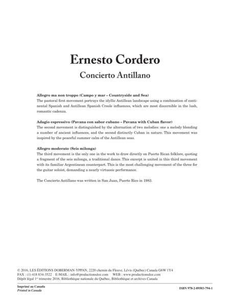 Concierto Antillano (Piano Reduction)