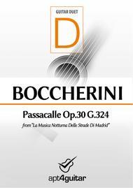 Passacalle Op.30 G.324