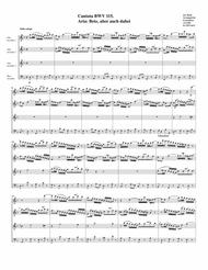 Aria: Bete, aber auch dabei from Cantata BWV 115 (arrangement for 4 recorders)
