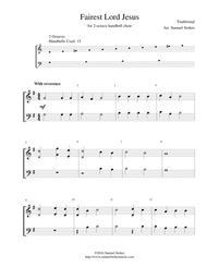 Fairest Lord Jesus - for 2-octave handbell choir