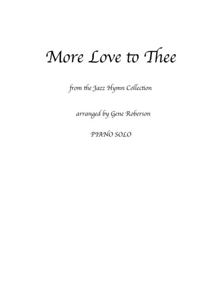 More Love to Thee  from the Jazz Hymn Piano Collection