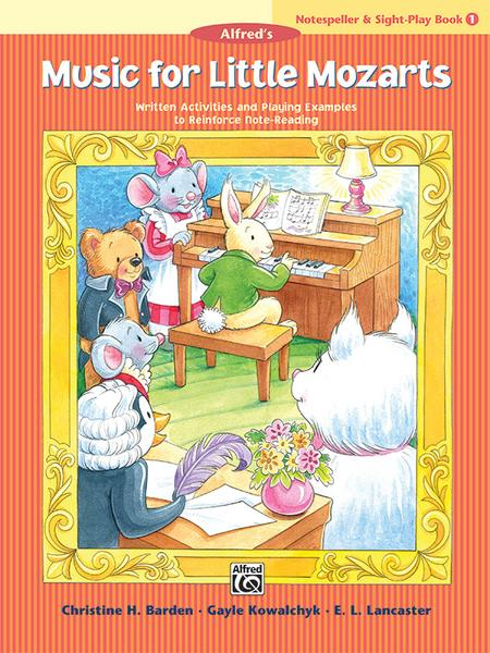 Music for Little Mozarts Notespeller & Sight-Play Book, Book 1