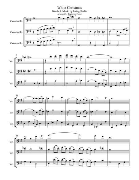 White Christmas for Three Cellos