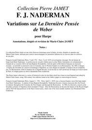 F. J. NADERMAN Variations sur La Dernière Pensée de Weber for solo harp