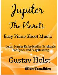 Jupiter the Planets Easy Piano Sheet Music