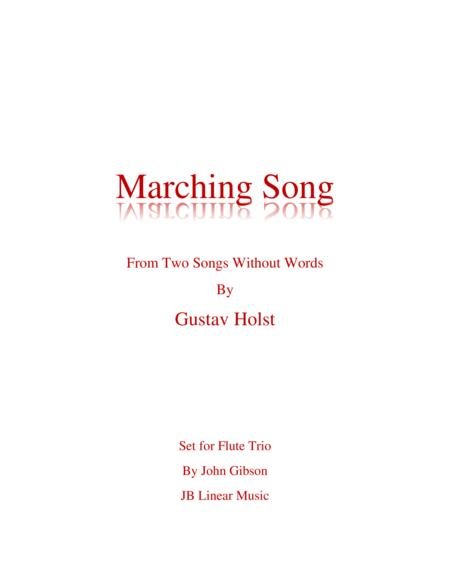Marching Song by Gustav Holst for Flute Trio