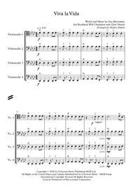 Viva la Vida (Cello Quartet)