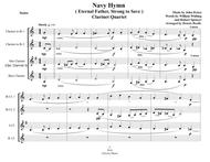 Navy Hymn (Eternal Father, Strong to Save) - Clarinet Quartet