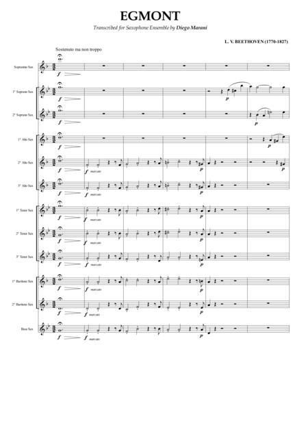 Egmont for Saxophone Ensemble
