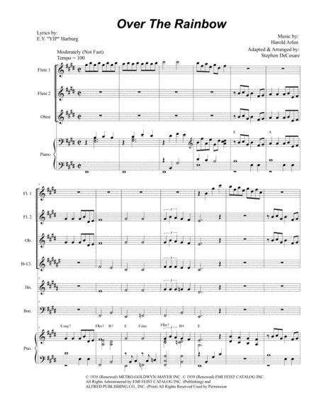 Over The Rainbow (for Woodwind Quintet)