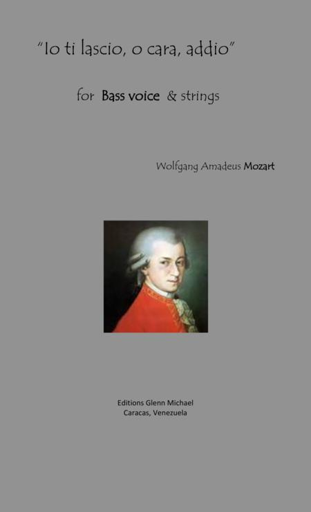 Mozart Bass aria   Io ti lascio, o cara, addio