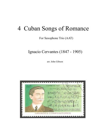 4 Cuban Songs of Romance for Saxophone Trio