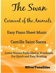 The Swan Carnival of the Animals Easy Piano Sheet Music