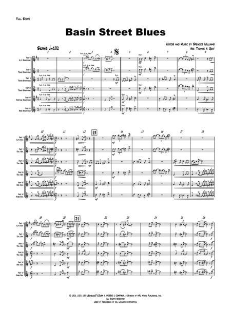 Basin Street Blues - Saxophone Quartet - Jazz