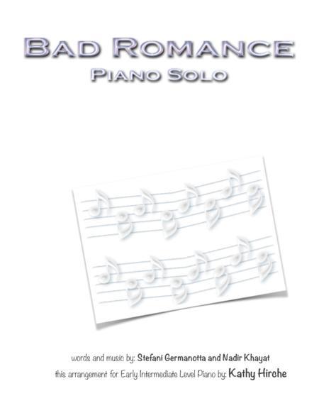 Bad Romance - Piano Solo