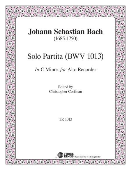 Partita for Solo Instrument in C minor (BWV 1013)