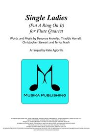 Single Ladies (Put A Ring On It) - for Flute Quartet